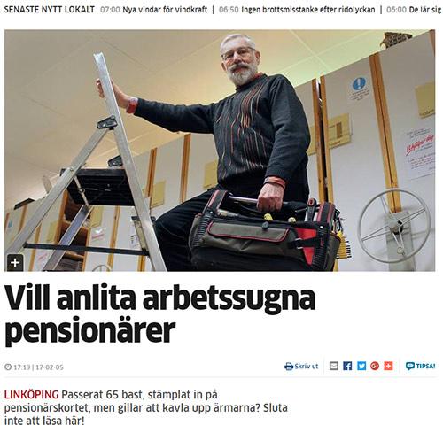 Pensionärspoolen Linköping i Corren b1000302bf525