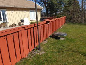 Tjäderstigen, nytt staket